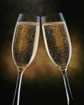 año nuevoBrindis champagne 2copas