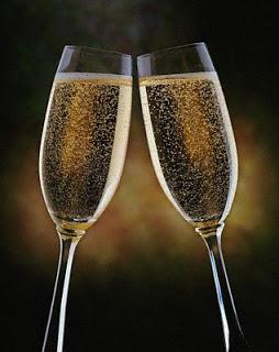 año nuevoBrindis champagne 2 copas