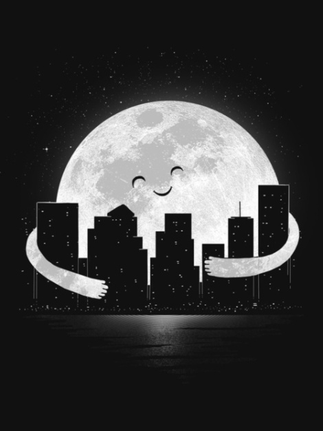 abrazo de luna