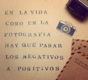 Siempre en positivo, nunca en negativo. Para que se aprecien bien todos los colores. :)