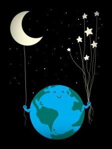 El mundo, desde una estrella :)