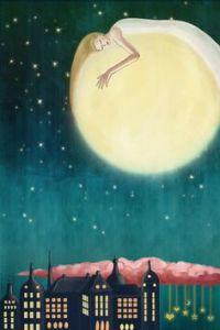 Dama luna, encendiendo la noche.